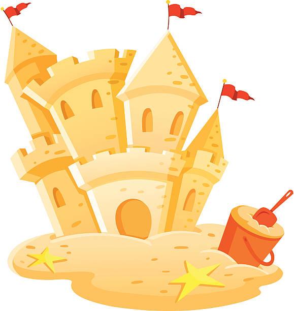 illustrations, cliparts, dessins animés et icônes de château de sable - chateau de sable