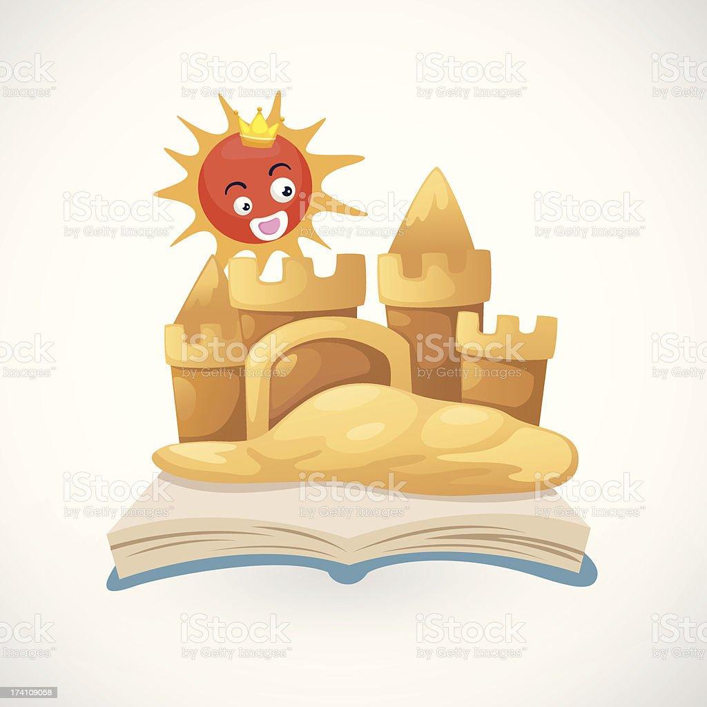 sand castle royalty-free stock vector art