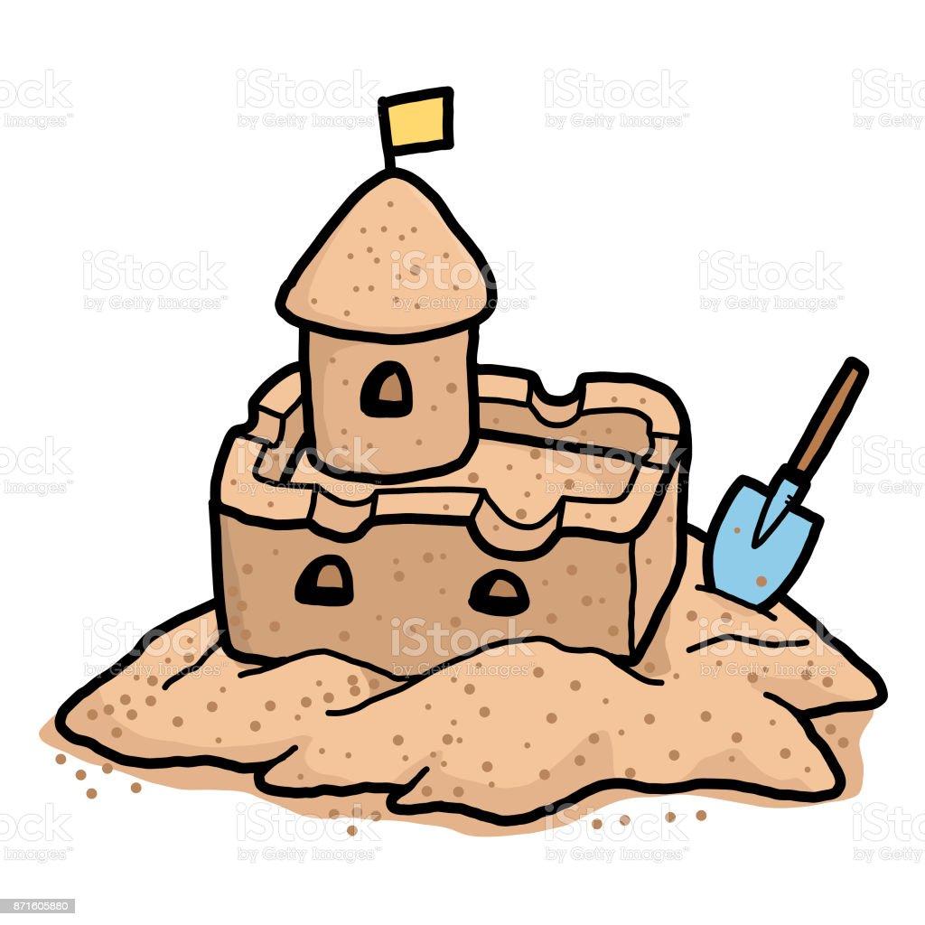 royalty free sand castle clip art vector images illustrations rh istockphoto com build sandcastle clipart sand castle clip art images