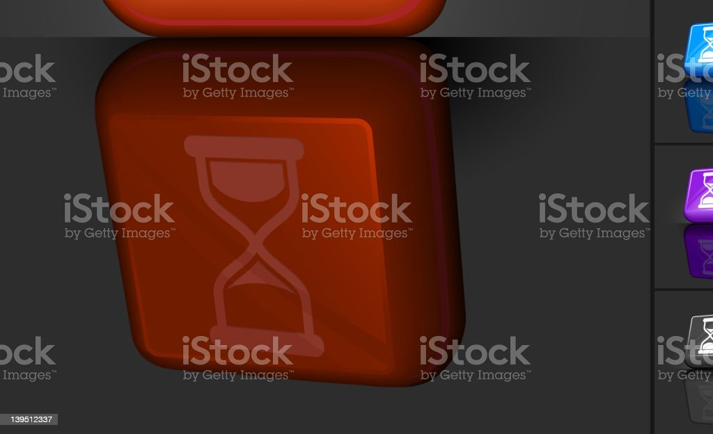 sand clock 3D button design royalty-free stock vector art