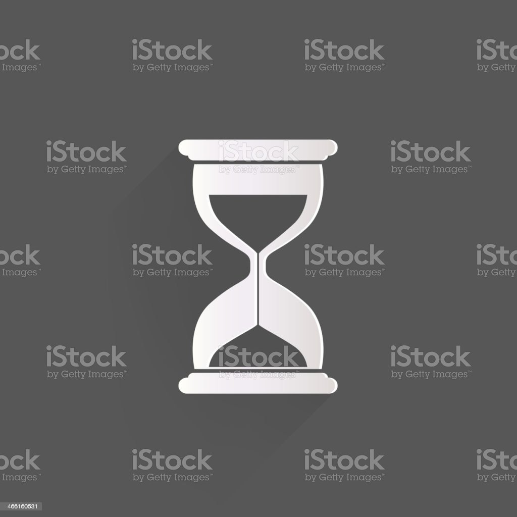 Sand clock icon. Glass timer symbol vector art illustration