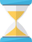 Sand clock. Time wait symbol.