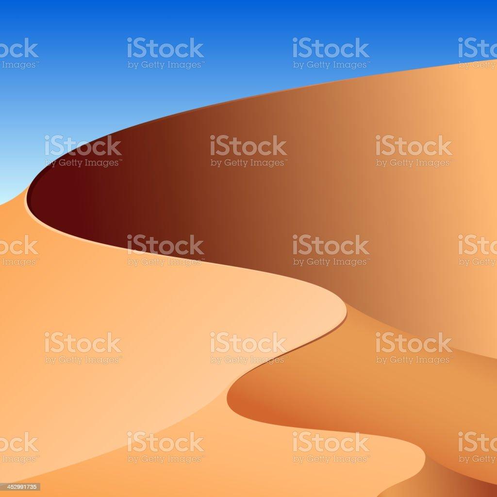 Sand dunes, abstract background vector art illustration