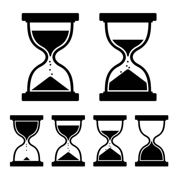 Conjunto de ícones de relógio de areia. Vector - ilustração de arte vetorial