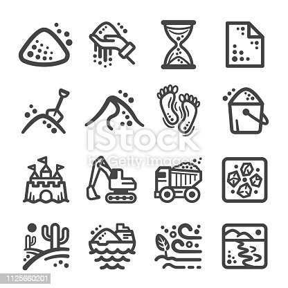 sand icon set,vector and illustration