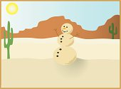A sand man in the desert.  File includes JPEG size 3000 x 2200.