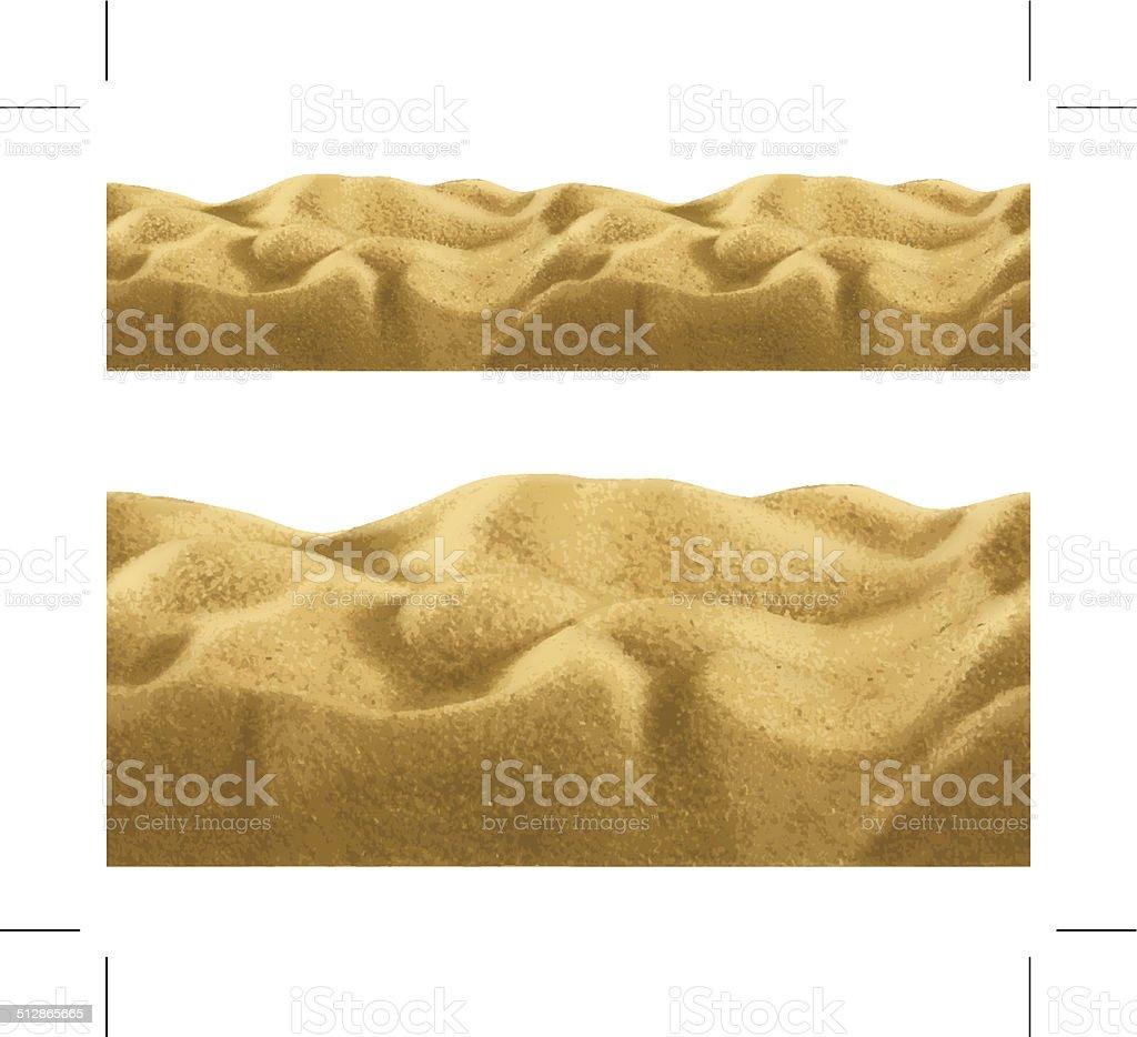 Sand, seamless vector art illustration