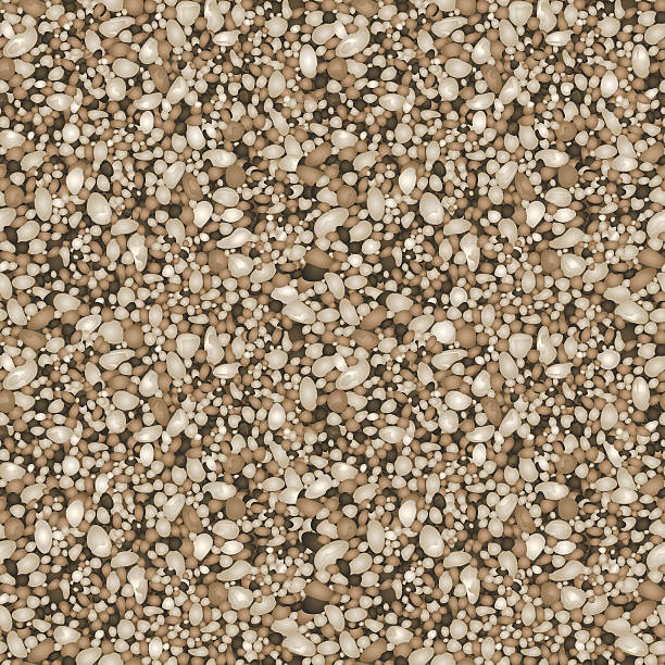 Sand texture pattern Sand texture in a seamless repeat pattern. pebble stock illustrations
