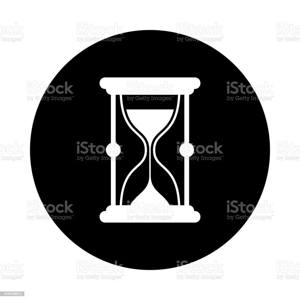 Ilustración De Icono De Círculo De Reloj De Arena Negro Redondo
