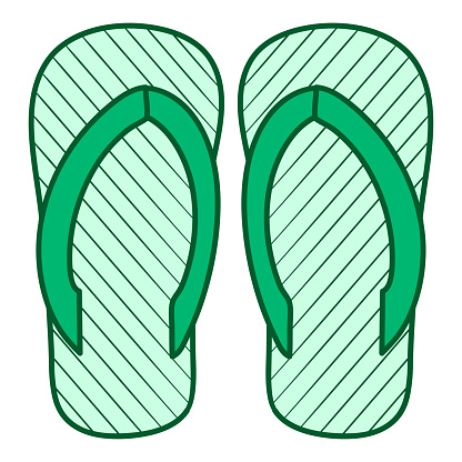 sandal footwear kawaii doodle image