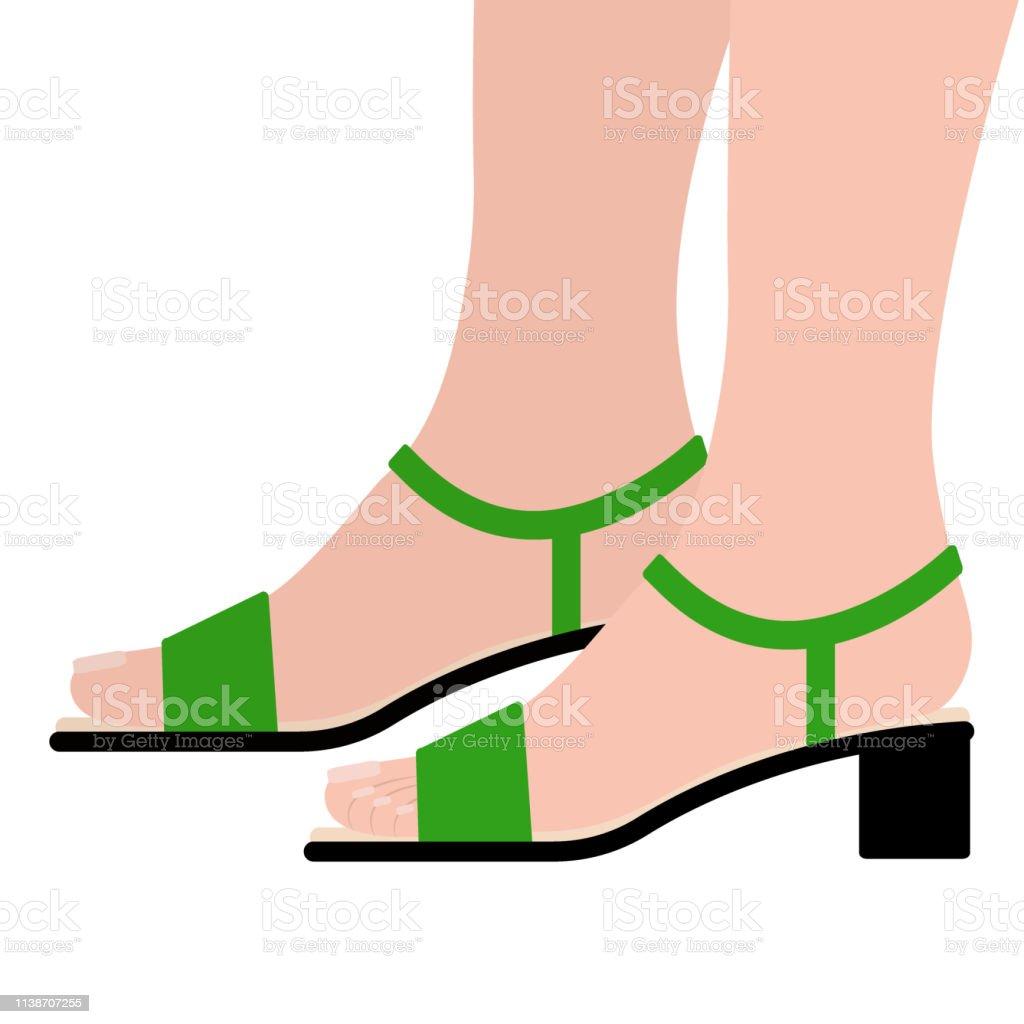Füße über Ein African American Womans Feet In Modischen Open