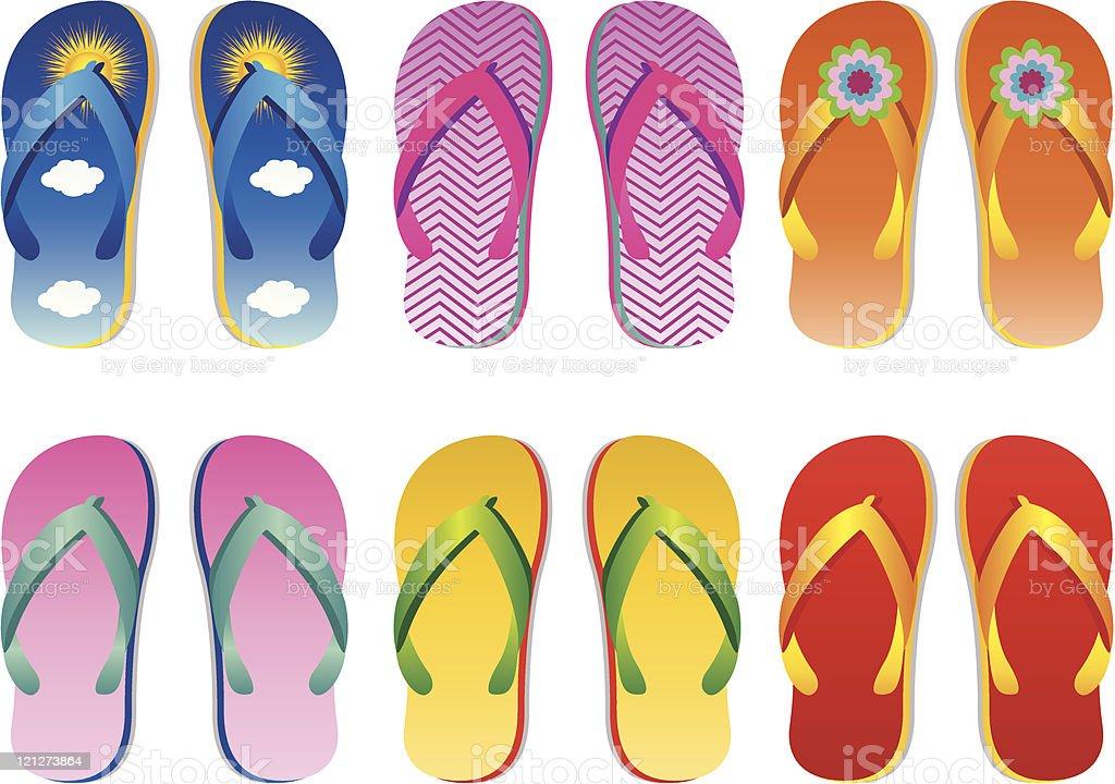 sandals royalty-free stock vector art