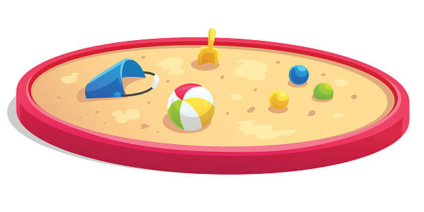 Sandbox cartoon style vector art illustration