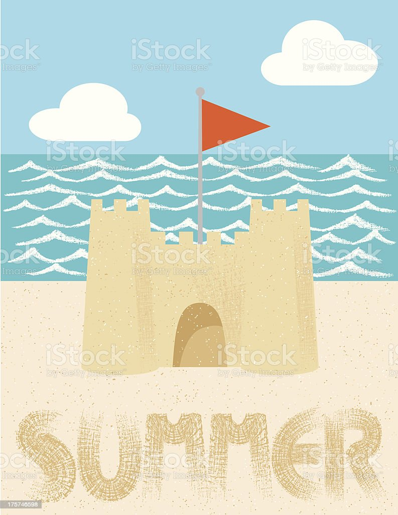 Sandcastle royalty-free sandcastle stock vector art & more images of beach