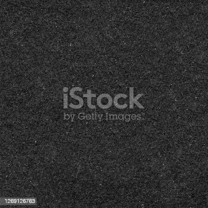 istock Sandpaper in macro - seamless uneven raw harsh black paper surface in vector - abstract modern original recycled material with visible rough high textured surface - basic graphic background 1269126763