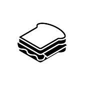 Sandwich black icon on white background