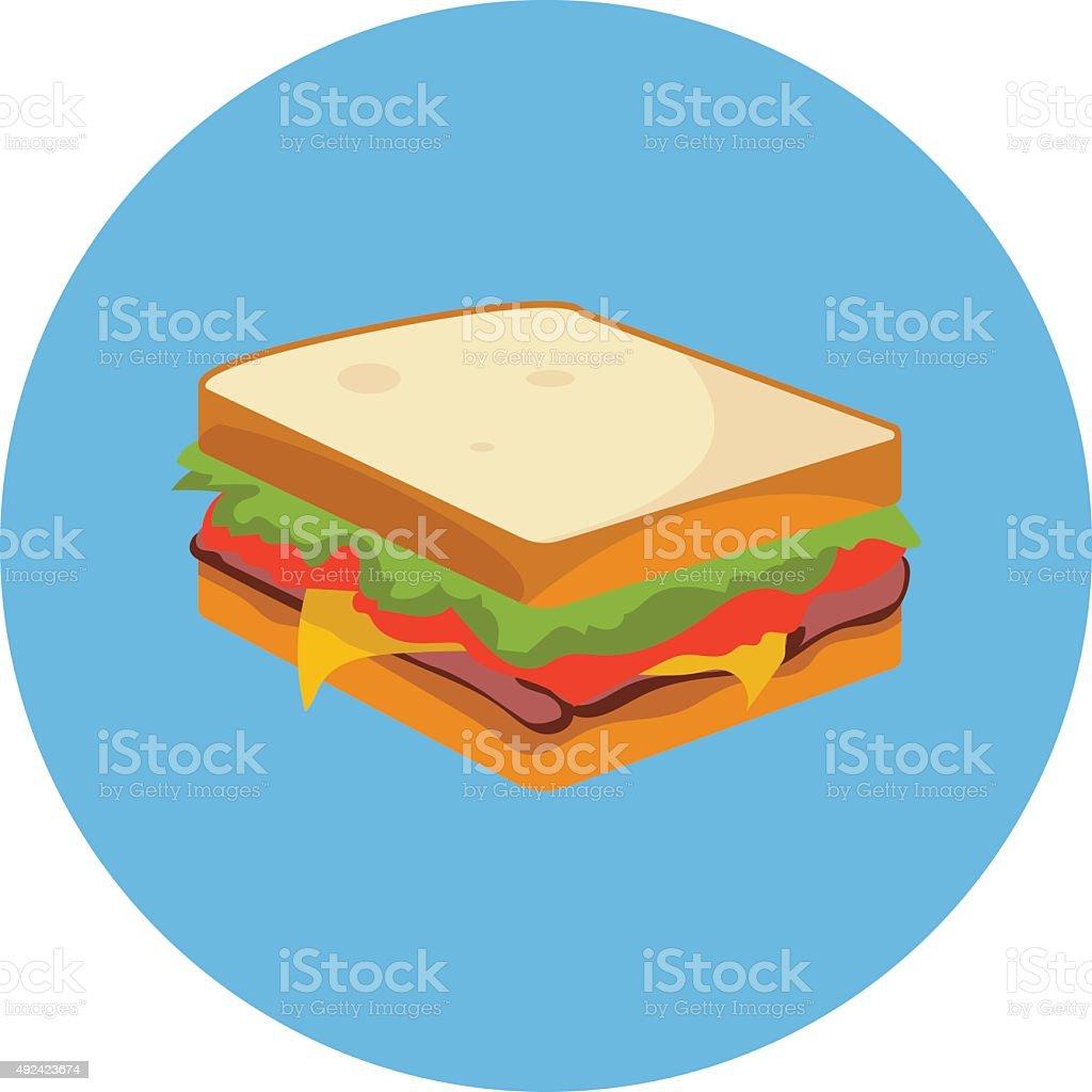 Sándwich de color Vector icono - ilustración de arte vectorial