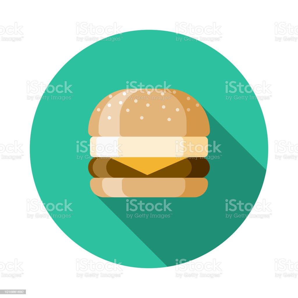 Sandwich Flat Design Breakfast Icon vector art illustration