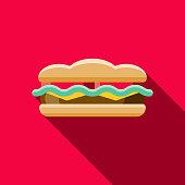istock Sandwich Flat Design Fast Food Icon 913975790