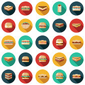 Sandwich Icon Set