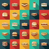 Sandwich Icon Set