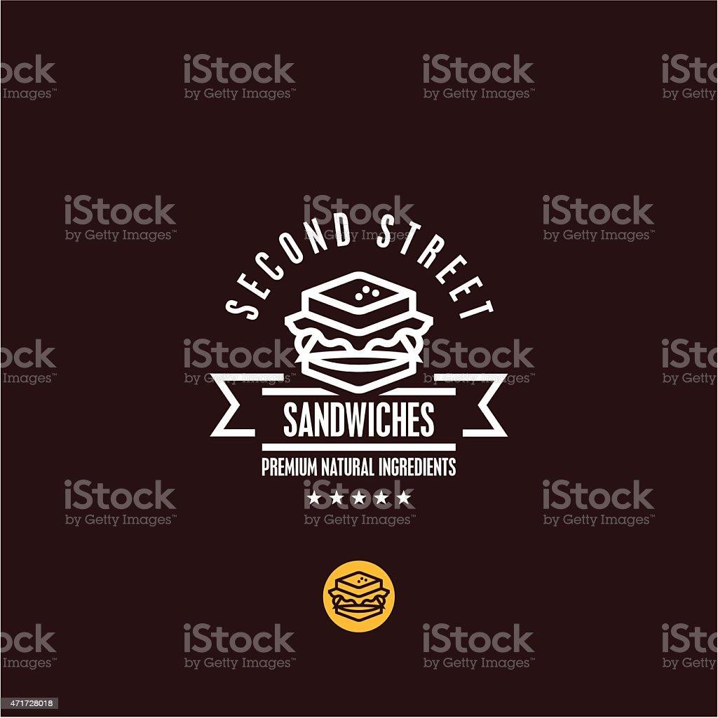 Sandwich icon vector art illustration