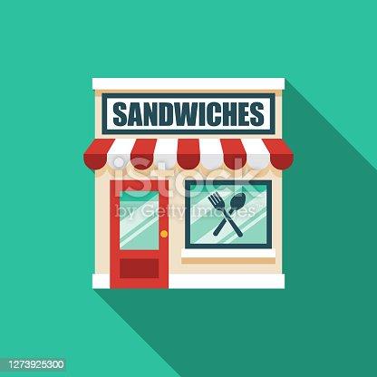 istock Sandwich Shop Icon 1273925300