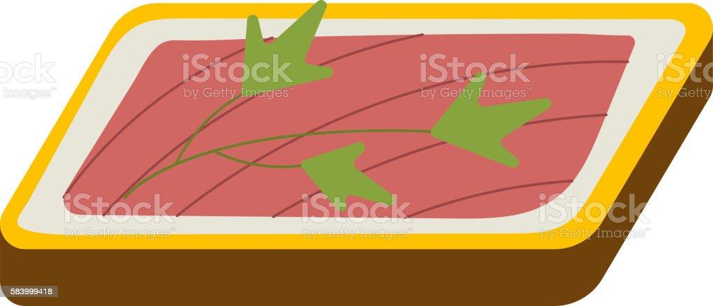Sandwich vector icon vector art illustration
