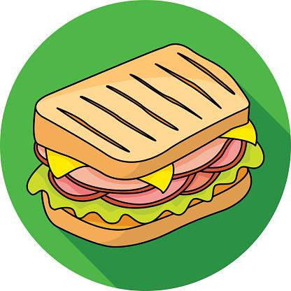 Sandwich vector icon.