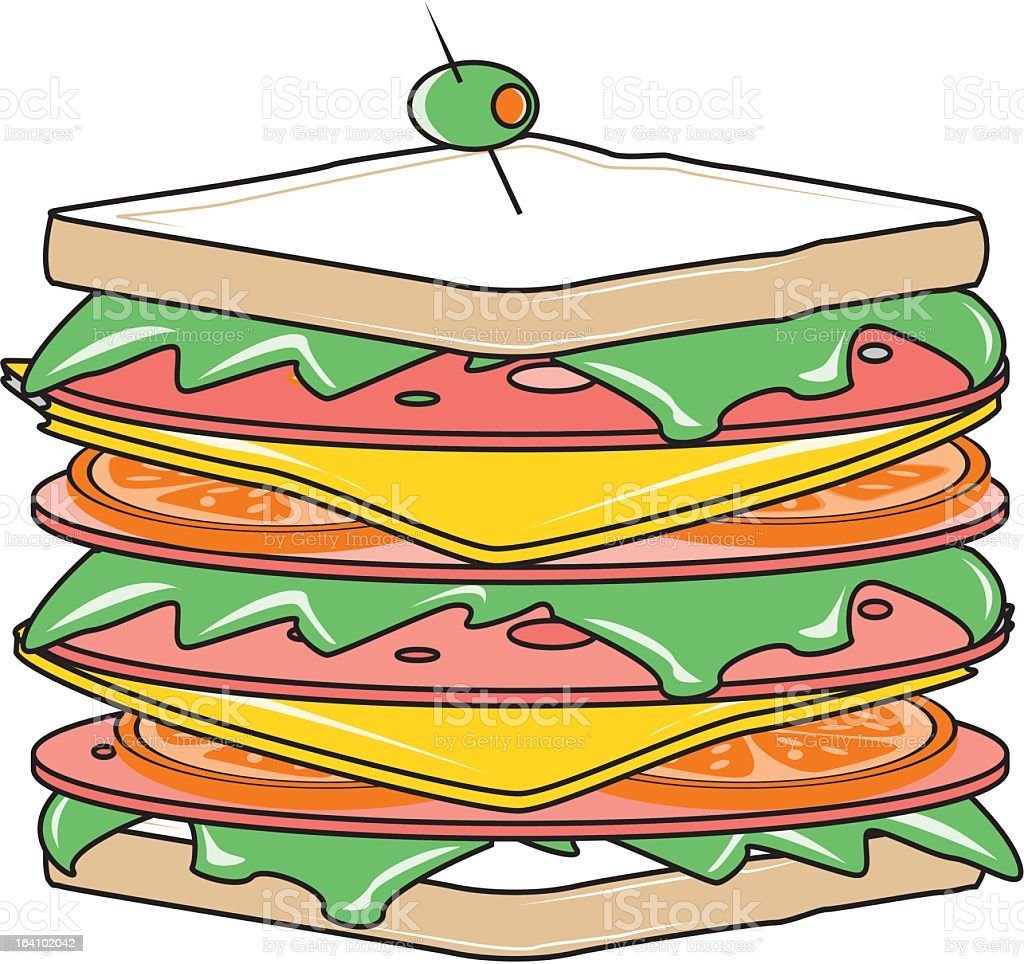 Sandwich royalty-free sandwich stock vector art & more images of cheese
