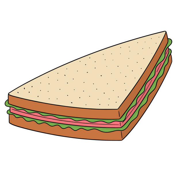 Best Natural Sandwich Illustrations Royalty Free Vector Graphics