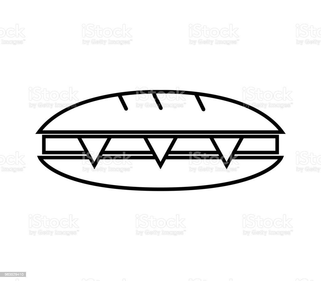 sandwich vector art illustration