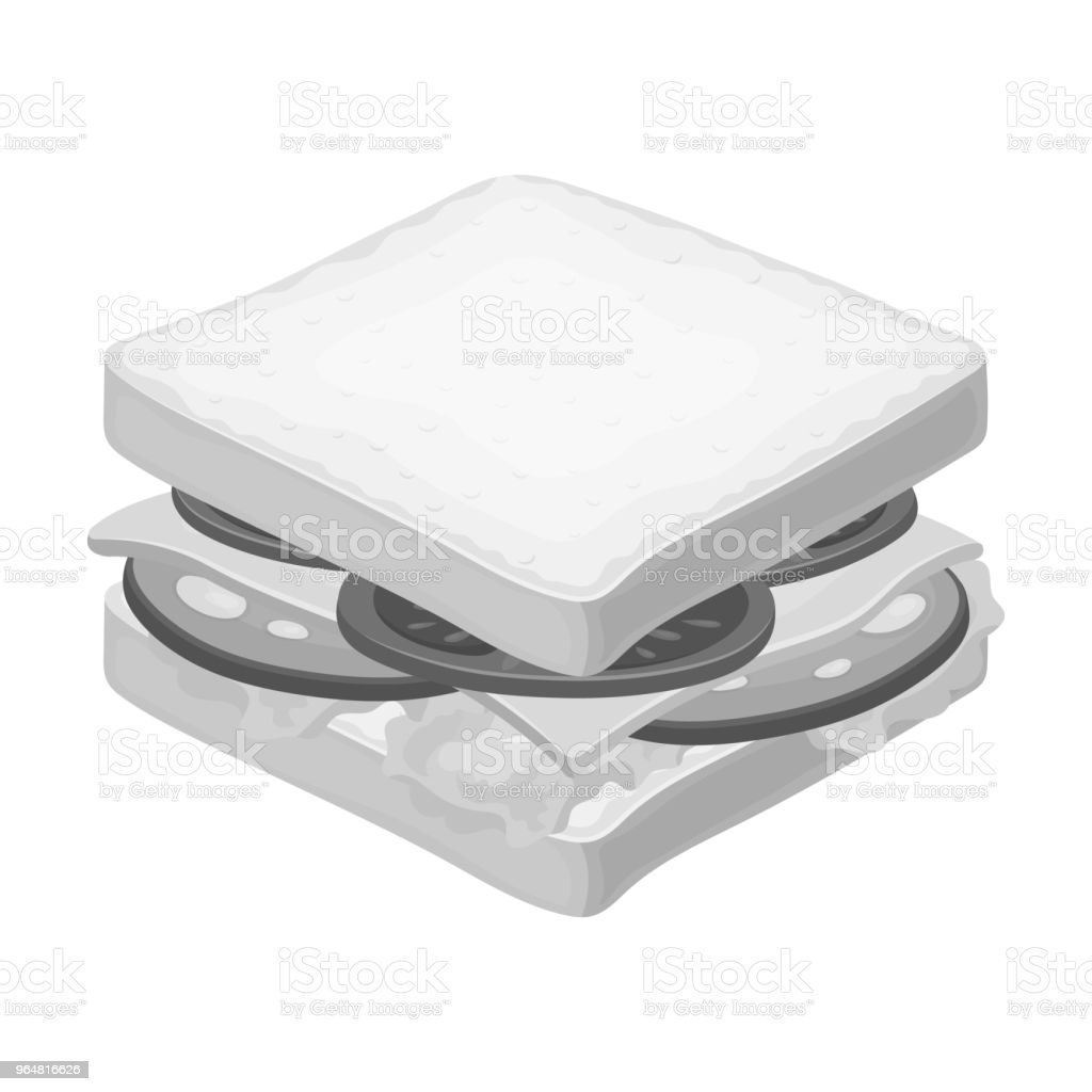 A sandwich with bread and sausage.Burgers and ingredients single icon in monochrome style vector symbol stock web illustration. royalty-free a sandwich with bread and sausageburgers and ingredients single icon in monochrome style vector symbol stock web illustration stock vector art & more images of breakfast