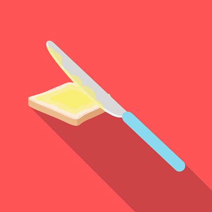 버터 샌드위치입니다 평면 스타일 벡터 기호 재고 일러스트 웹에서 식품 단일 아이콘 0명에 대한 스톡 벡터 아트 및 기타 이미지
