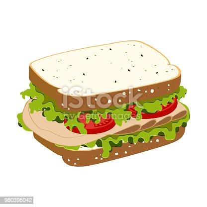 istock sandwich with ham 980395042