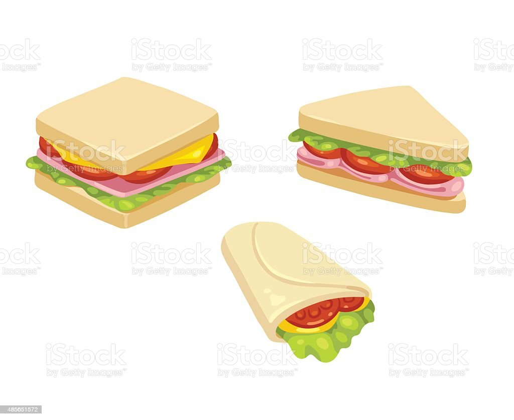 Des sandwichs - Illustration vectorielle