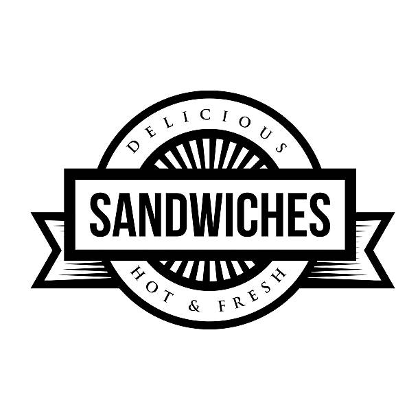 sandwiches vintage stamp vector - delis stock illustrations