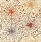 Sandy and orange radial elements