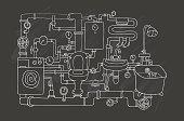 Sanitary engineering. Chalkboard.