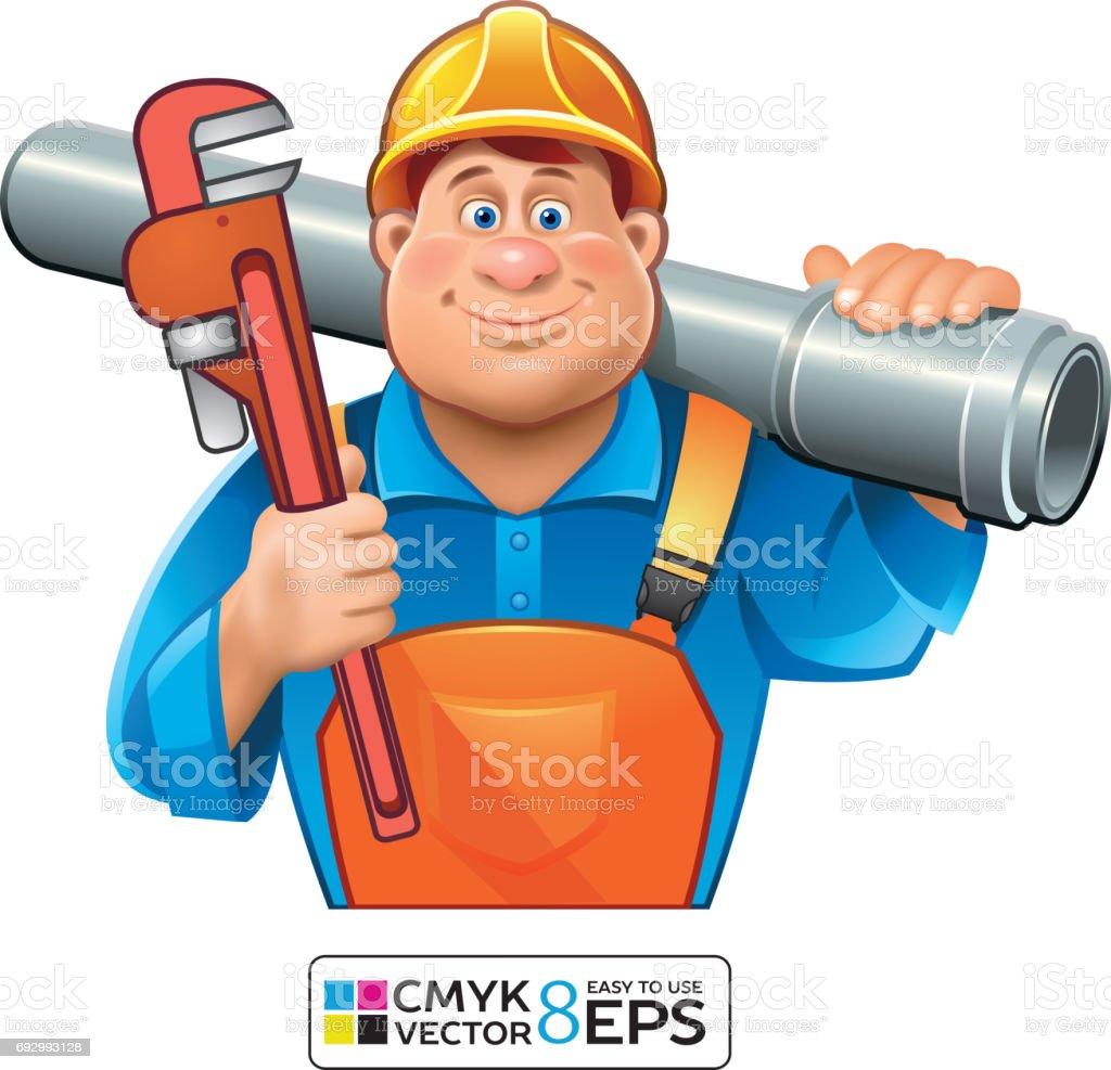 Sanitary Technician Plumber Man Stock Vector Art & More Images of ...