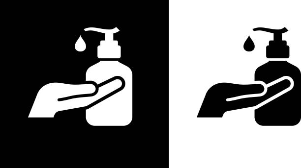 Sanitizer Liquid Hand Soap Icon vector art illustration