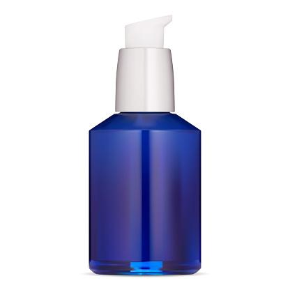 Sanitizer pump bottle mockup. Airless dispense