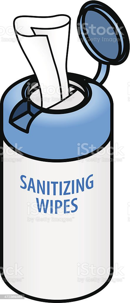 sanitizing wipes stock vector art more images of baby 472369385 rh istockphoto com Huggies Baby Wipes Baby Walker Clip Art
