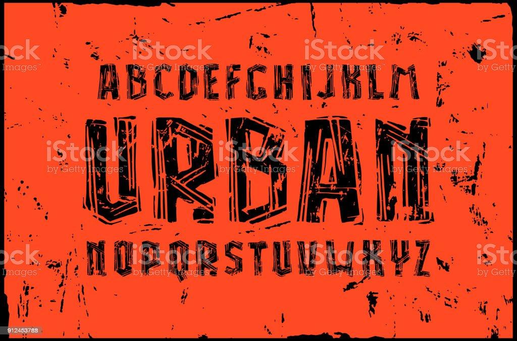 リノリウム スタイルで sans serif フォント ベクターアートイラスト