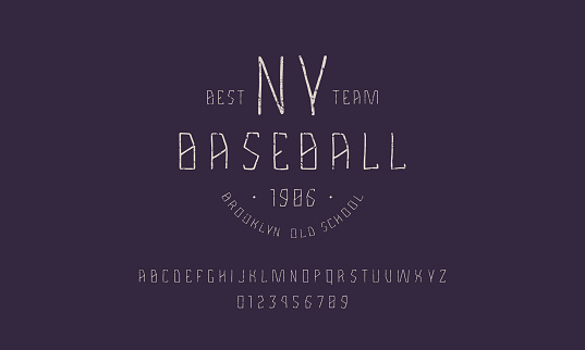Sans serif font in the style of handmade graphics