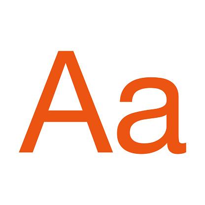Sans Serif Typeface Icon on Transparent Background