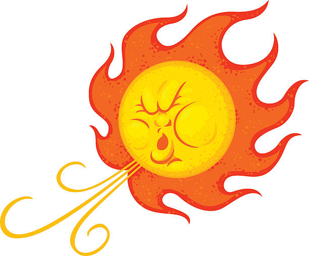 santa ana winds southern californians know santa ana winds as being hot winds that come out of the east heat wave stock illustrations