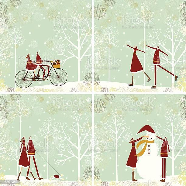 Santa and lady on christmas background vector id165913530?b=1&k=6&m=165913530&s=612x612&h=qopky4hknu9dz3onwsbjj1 wpleughuhn2 wduak30s=