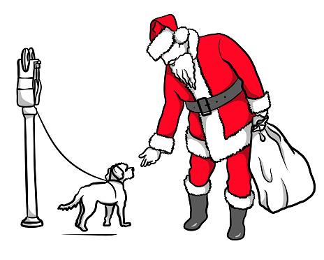 Santa And Puppy Dog