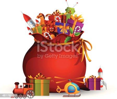 istock Santa Bag 481765453